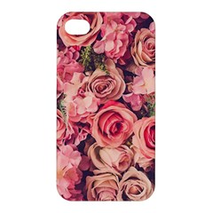 Gorgeous Pink Roses Apple Iphone 4/4s Hardshell Case by Brittlevirginclothing