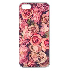 Gorgeous Pink Roses Apple Seamless Iphone 5 Case (clear) by Brittlevirginclothing
