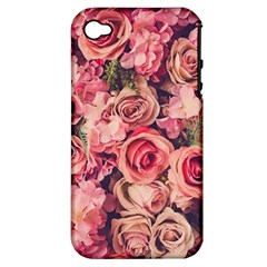 Gorgeous Pink Roses Apple Iphone 4/4s Hardshell Case (pc+silicone) by Brittlevirginclothing