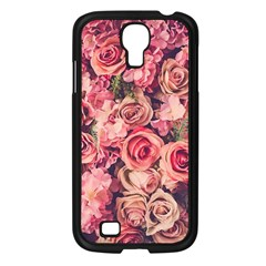 Gorgeous Pink Roses Samsung Galaxy S4 I9500/ I9505 Case (black) by Brittlevirginclothing