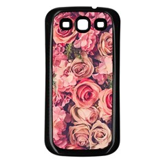 Gorgeous Pink Roses Samsung Galaxy S3 Back Case (black) by Brittlevirginclothing