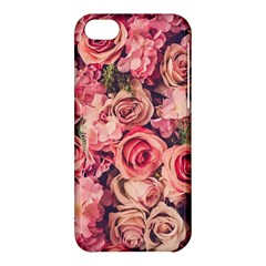 Gorgeous Pink Roses Apple Iphone 5c Hardshell Case by Brittlevirginclothing