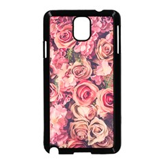 Gorgeous Pink Roses Samsung Galaxy Note 3 Neo Hardshell Case (black) by Brittlevirginclothing