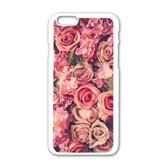 Gorgeous Pink Roses Apple Iphone 6/6s White Enamel Case by Brittlevirginclothing