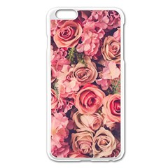 Gorgeous Pink Roses Apple Iphone 6 Plus/6s Plus Enamel White Case by Brittlevirginclothing