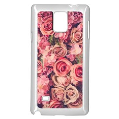Gorgeous Pink Roses Samsung Galaxy Note 4 Case (white) by Brittlevirginclothing
