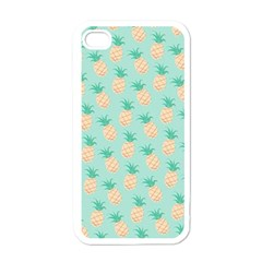 Cute Pineapple Apple Iphone 4 Case (white) by Brittlevirginclothing
