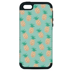 Cute Pineapple Apple Iphone 5 Hardshell Case (pc+silicone) by Brittlevirginclothing