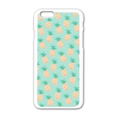 Cute Pineapple Apple Iphone 6/6s White Enamel Case by Brittlevirginclothing