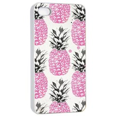 Cute Pink Pineapple Apple Iphone 4/4s Seamless Case (white) by Brittlevirginclothing