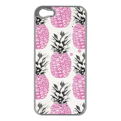Cute Pink Pineapple Apple Iphone 5 Case (silver) by Brittlevirginclothing