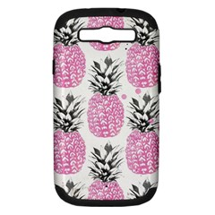 Cute Pink Pineapple Samsung Galaxy S Iii Hardshell Case (pc+silicone) by Brittlevirginclothing