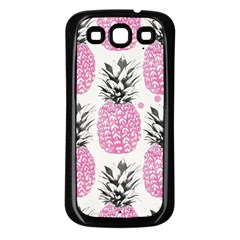 Cute Pink Pineapple Samsung Galaxy S3 Back Case (black) by Brittlevirginclothing