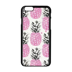 Cute Pink Pineapple Apple Iphone 6/6s Black Enamel Case by Brittlevirginclothing