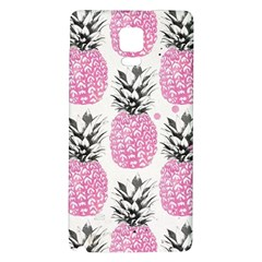 Cute Pink Pineapple Galaxy Note 4 Back Case by Brittlevirginclothing