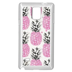 Cute Pink Pineapple Samsung Galaxy Note 4 Case (white) by Brittlevirginclothing