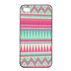 Lovely Pink Bohemian Apple Iphone 4/4s Seamless Case (black) by Brittlevirginclothing
