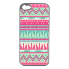 Lovely Pink Bohemian Apple Iphone 5 Case (silver) by Brittlevirginclothing
