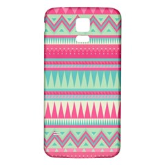 Lovely Pink Bohemian Samsung Galaxy S5 Back Case (white)