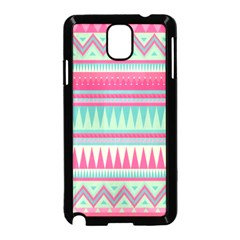 Lovely Pink Bohemian Samsung Galaxy Note 3 Neo Hardshell Case (black) by Brittlevirginclothing