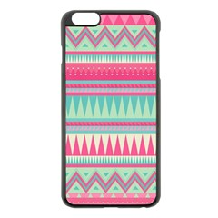 Lovely Pink Bohemian Apple Iphone 6 Plus/6s Plus Black Enamel Case by Brittlevirginclothing