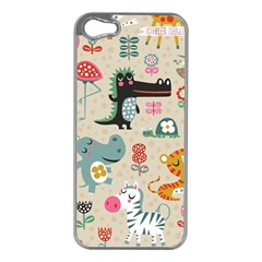 Cute Small Cartoon Characters Apple Iphone 5 Case (silver) by Brittlevirginclothing
