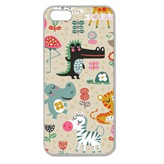 Cute Small Cartoon Characters Apple Seamless Iphone 5 Case (clear) by Brittlevirginclothing