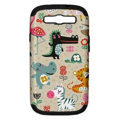 Cute Small Cartoon Characters Samsung Galaxy S Iii Hardshell Case (pc+silicone) by Brittlevirginclothing