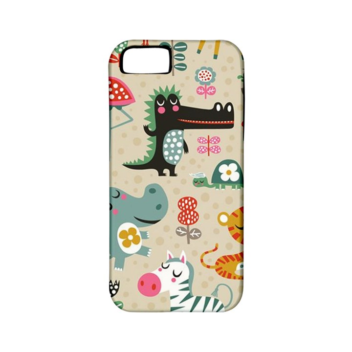 Cute small cartoon characters Apple iPhone 5 Classic Hardshell Case (PC+Silicone)