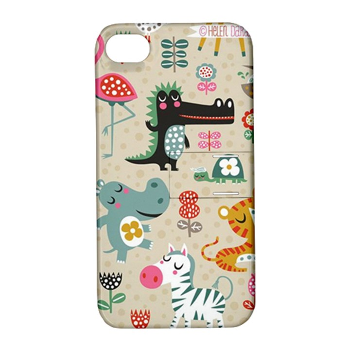 Cute small cartoon characters Apple iPhone 4/4S Hardshell Case with Stand