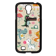 Cute Small Cartoon Characters Samsung Galaxy S4 I9500/ I9505 Case (black) by Brittlevirginclothing