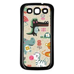Cute Small Cartoon Characters Samsung Galaxy S3 Back Case (black) by Brittlevirginclothing