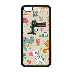 Cute Small Cartoon Characters Apple Iphone 5c Seamless Case (black) by Brittlevirginclothing