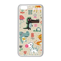 Cute Small Cartoon Characters Apple Iphone 5c Seamless Case (white)