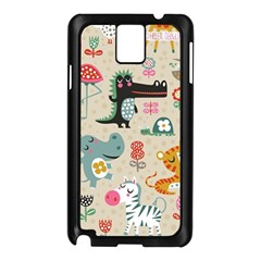 Cute Small Cartoon Characters Samsung Galaxy Note 3 N9005 Case (black) by Brittlevirginclothing