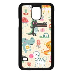 Cute Small Cartoon Characters Samsung Galaxy S5 Case (black) by Brittlevirginclothing