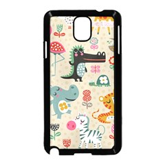 Cute Small Cartoon Characters Samsung Galaxy Note 3 Neo Hardshell Case (black) by Brittlevirginclothing