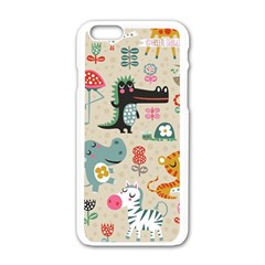Cute Small Cartoon Characters Apple Iphone 6/6s White Enamel Case