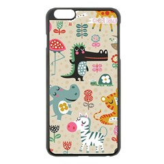 Cute Small Cartoon Characters Apple Iphone 6 Plus/6s Plus Black Enamel Case by Brittlevirginclothing