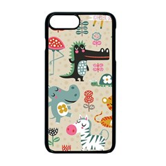 Cute Small Cartoon Characters Apple Iphone 7 Plus Seamless Case (black) by Brittlevirginclothing