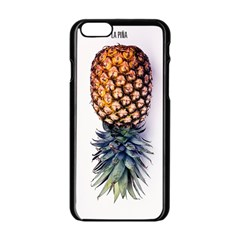 Pineapple Apple Iphone 6/6s Black Enamel Case by Brittlevirginclothing