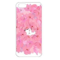 Cute Hiding Kitty Apple Iphone 5 Seamless Case (white) by Brittlevirginclothing