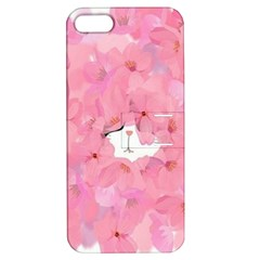 Cute Hiding Kitty Apple Iphone 5 Hardshell Case With Stand by Brittlevirginclothing