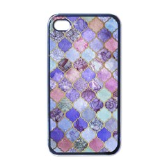 Gorgeous Blue Moroccan Mosaic Apple Iphone 4 Case (black) by Brittlevirginclothing