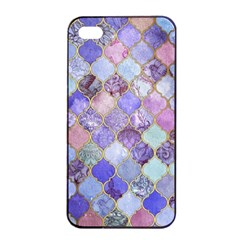 Gorgeous Blue Moroccan Mosaic Apple Iphone 4/4s Seamless Case (black) by Brittlevirginclothing