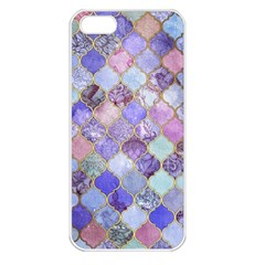 Gorgeous Blue Moroccan Mosaic Apple Iphone 5 Seamless Case (white) by Brittlevirginclothing