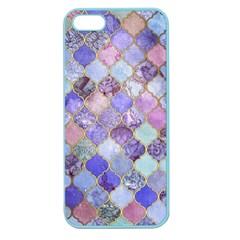 Gorgeous Blue Moroccan Mosaic Apple Seamless Iphone 5 Case (color) by Brittlevirginclothing