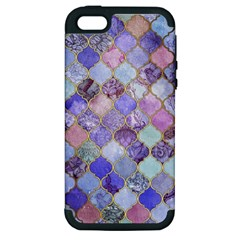 Gorgeous Blue Moroccan Mosaic Apple Iphone 5 Hardshell Case (pc+silicone) by Brittlevirginclothing