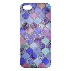 Gorgeous Blue Moroccan Mosaic Apple Iphone 5 Premium Hardshell Case by Brittlevirginclothing