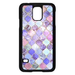 Gorgeous Blue Moroccan Mosaic Samsung Galaxy S5 Case (black) by Brittlevirginclothing